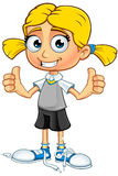 Blonde School Girl Character Royalty Free Stock Photo