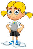 Blonde School Girl Character Royalty Free Stock Image