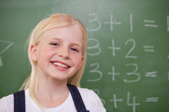 Blonde schoolgirl posing Stock Photography