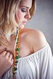 Blonde schoonheid Stock Foto