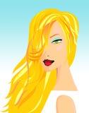 Blonde schoonheid Stock Illustratie