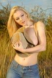 Blonde schoonheid stock foto's