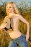 Blonde schoonheid royalty-vrije stock foto