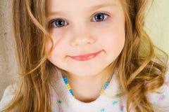 Blonde schoonheid met blauwe ogen Royalty-vrije Stock Foto's