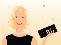 Blonde schoonheidsavond Royalty-vrije Stock Afbeeldingen
