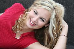 Blonde sexy Fotografie Stock