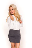 Blonde sexy business lady Stock Photo