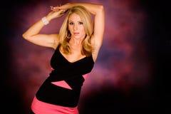 Blonde in Dress Stock Photo