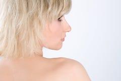 Blonde sexy Frau Stockfotografie