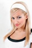 Blonde 'sexy' no pose do pino-acima Imagens de Stock