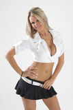 Blonde in sexy outfit Royalty Free Stock Photography