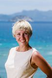 Blonde with short hair Royalty Free Stock Photography