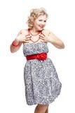 Blonde size plus model Royalty Free Stock Photo