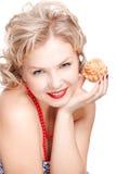 Blonde size plus model Stock Image