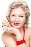 Blonde size plus model Stock Photos
