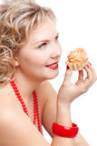 Blonde size plus model Royalty Free Stock Photography