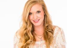 Blonde Skincare-Schönheit Lizenzfreie Stockfotografie
