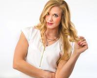 Blonde Skincare-Schönheit Stockbilder