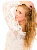 Blonde Skincare-Schönheit Stockfotos