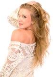 Blonde Skincare-Schönheit Lizenzfreies Stockfoto