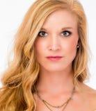 Blonde Skincare-Schönheit Stockfoto