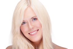 Blonde smiling Stock Photography