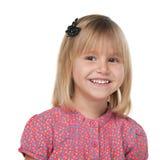 Blonde smiling girl Stock Photo