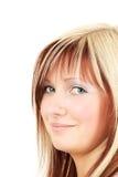 blonde smiling woman young Στοκ Φωτογραφία