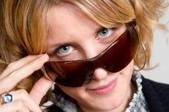 Blonde Sonnenbrillen Lizenzfreies Stockbild