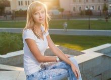 Blonde Sonnenparkwand Lizenzfreie Stockbilder
