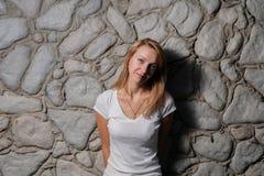 Blonde Sonnenparkwand Stockbilder