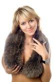 Blonde sonriente imagen de archivo