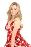 Blonde sorridente immagine stock libera da diritti