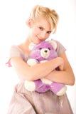 Blonde sorridente infantile Fotografia Stock