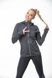Blonde sportive girl Stock Photography