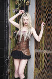 Blonde Steampunk Fashion Model Royalty Free Stock Photos