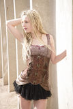 Blonde Steampunk Fashion Model Royalty Free Stock Images