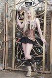 Blonde Steampunk Fashion Model Stock Photo