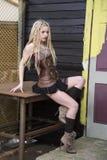 Blonde Steampunk Fashion Model Royalty Free Stock Image