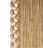 Blonde Straight Hair and Braid or Plait isolated Royalty Free Stock Images