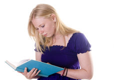 Blonde student studying Stock Image