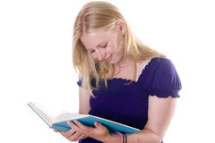 Blonde student studying Royalty Free Stock Images