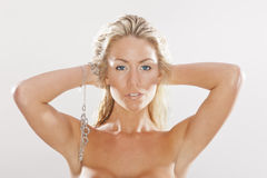 Blonde Studio Model Royalty Free Stock Images