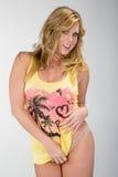 Blonde Studio Model Royalty Free Stock Images