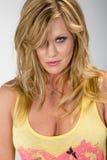 Blonde Studio Model Royalty Free Stock Photos