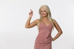 Blonde Studio Model. Blonde model posing in a studio environment stock photos