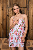 00fb9546b67 Blonde in a summer dress. Beautiful petite blonde in a short summer dress  Stock Photos