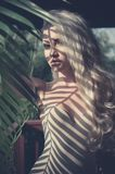 Blonde in the sun royalty free stock photo