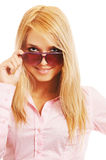 Blonde in sunglasses Royalty Free Stock Image