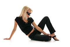 Blonde sunglasses Royalty Free Stock Photos